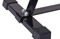 ScSPORTS - Soporte para pesas en forma de disco para halteras, color negro