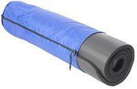 Kawanyo Colchoneta Esterilla De Yoga Pilates Fitness negro con bolso y correa 180 X 60 X 1,5 cm