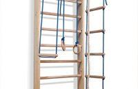 """Barras de pared con barra de altura ajustable """"Kombi-2-220"""", escalera sueca, gimnasia de los niños en casa, complejo deportivo de gimnasia 220x80"""