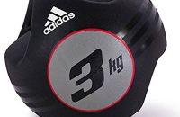 adidas ADBL-10412 - Balón medicinal de doble agarre, color negro, 3Kg