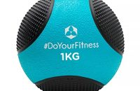 Balón medicinal »Medicus« / 1 - 10 kg / Balón de entrenamiento / Balón de peso / Balones de gimnasia de ligeros a pesados con calidad de gimnasio profesional 1 kg / azul claro