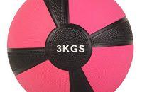 Balón medicinal deportivo 1 kg, 2 kg, 3 kg, 4 kg, 5 kg, 6 kg, 7 kg, 8 kg, 9 kg, 10 kg - Concebido para la práctica del cross training, el calentamiento de los deportistas, el refuerzo muscular o la rehabilitación (3 kg Magenta)