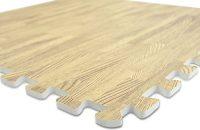 8 x efecto de madera que se enclavija alfombras de goma EVA estera de gimnasio suelo de 8 pc 32 SQ FT oficina