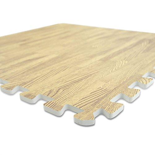 8 x efecto de madera que se enclavija alfombras de goma - Suelos para gimnasios ...